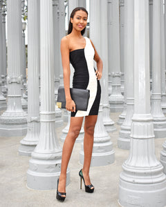 Herve Leger Nita Black White Bandage Dress