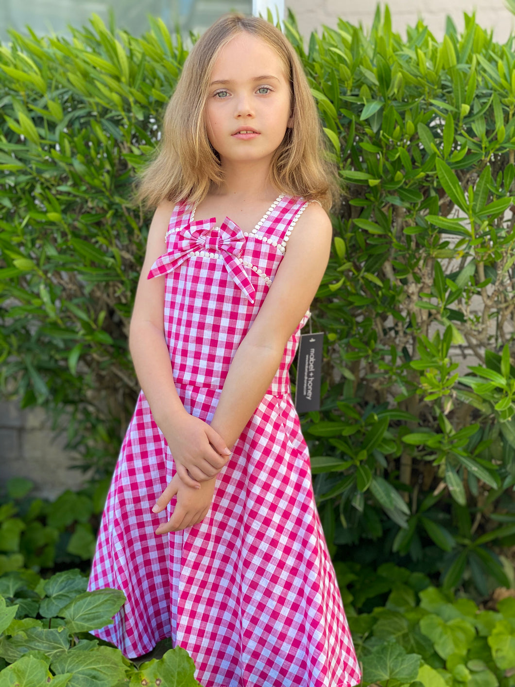 Mabel + Honey Pink White Sleeveless Dress