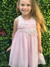 Isobella & Chloe Pink Bows Sleeveless Dress