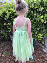 Isobella & Chloe Honeydew Ruffled Tulle Sleeveless Dress in Lime