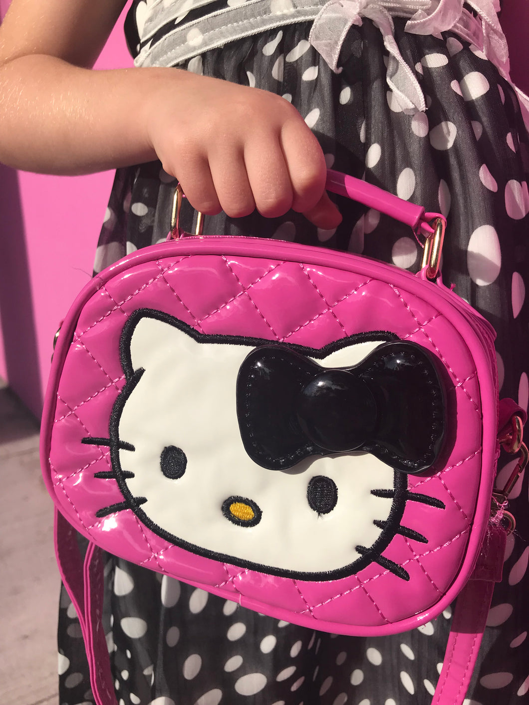 Hello Kitty Pink Shoulder Quilted Girls Bag