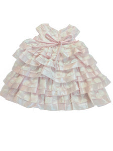 Isobella & Chloe Ruffled Pink Sleeveless Dress