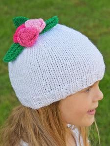 Flaricent Toddler Girls White Hat with Flowers
