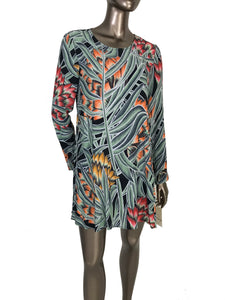 Mara Hoffman Herbarium Swing Long Sleeve Mini Dress