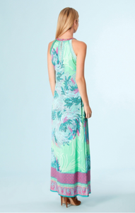 Hale Bob Floral Silk Blend Floral Abstract Multi-Color Maxi Dress