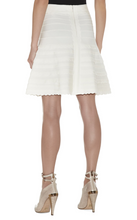 Herve Leger Vivia Scalloped White A-line Skirt