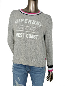 Superdry Brentwood Pop Grey Beach Jumper Sweater