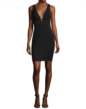 ZAC by Zac Posen Ariana Piped Sheath Black LBD Dress