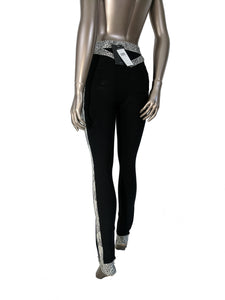 Herve Leger Joon Paneled Bandage Leggings Black Pants