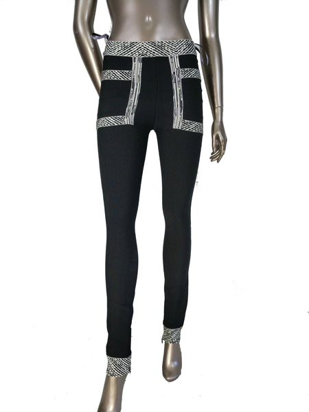 0880f9534786 ... Herve Leger Joon Paneled Bandage Leggings Black Pants ...