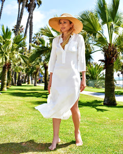 Flaricent 100% Cotton White Coverup
