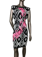Herve Leger Sean Sequined Ikat Cap Sleeves Jacquard dress