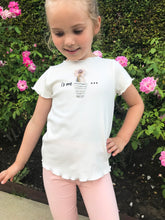 Flaricent Girls It's Me Sunflower Appliqué White T-shirt