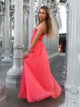 BCBG Max Azria Daniele Coral Embellished Gown