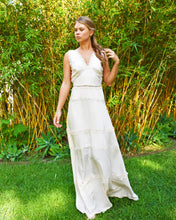 The Kooples Beige Melange V-neck Maxi Dress
