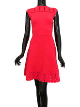 Ted Baker Zaralie Jacquard A-line Flared Skater Coral Dress