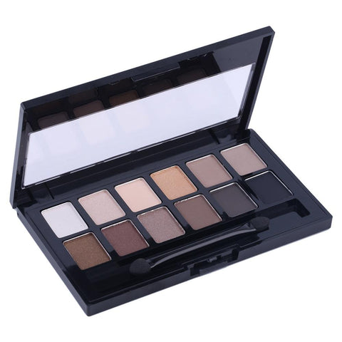 High Quality Pro Cosmetic Matte Eye Shadow 12 Colors Make Up Set - Leo Capri