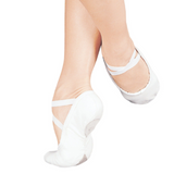 Split Sole Canvas Ballet Shoes - White or Black