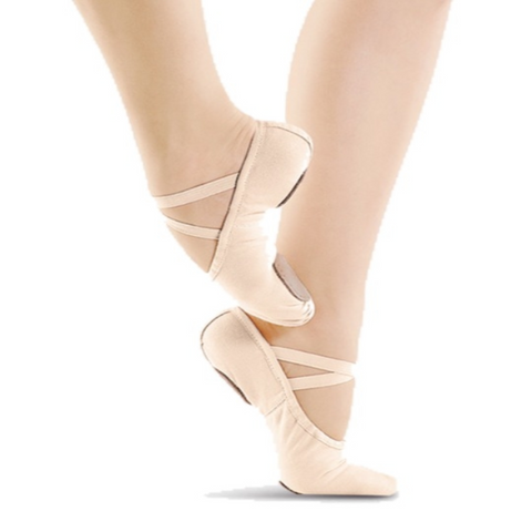 Split Sole Canvas Ballet Shoes - Light Pink