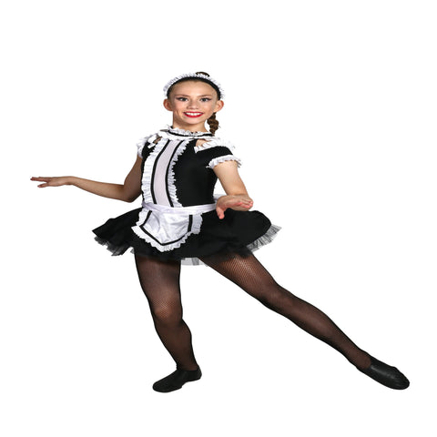 """Be Our Guest"" Maid Musical Theatre/Jazz/Tap Costume - Child M & Child XL (Second Hand)"