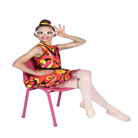"""Gogo Diva"" Demi Ballet/Jazz/Musical Theatre Costume by Airy Fairy Dancewear - Girl's size 10 (Second Hand)"