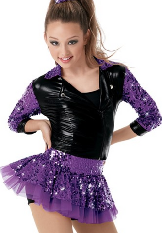 """Countdown"" Weissman Jazz/Tap Costume - Girl's IC size (Second hand)"