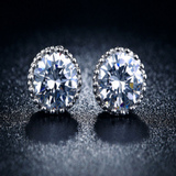 Silver Stud Cubic Zirconia Earrings