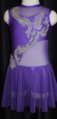 """Forever Young"" Madz Designs Custom Made Lyrical Costume - Girl's size 8 (Second hand)"