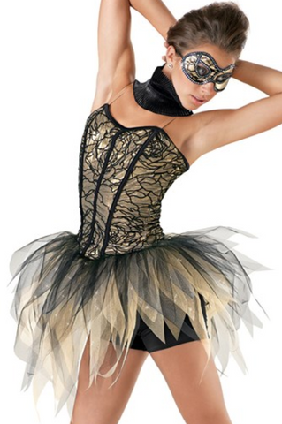 """Hallow's Eve Ball"" - Weissman Ballet/Acro/Contemp Costume (Second hand)"