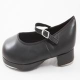 Double Soled Buckle Pro Tap Shoes in Tan/Black - Slick Dancewear