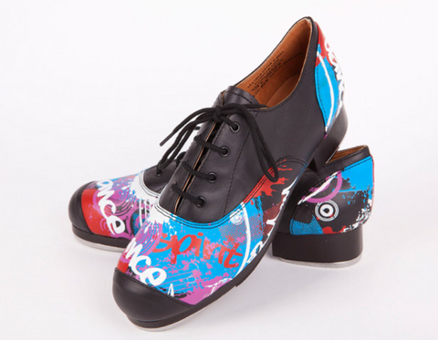 Child's/Adult's Grafficks Double Soled Oxford Tap Shoes - Slick Dancewear - Limited Sizes