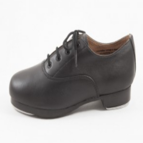 Doubled Soled Lace Up Oxford Tap Shoes in Black - Slick Dancewear