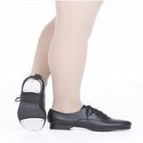 Double Soled Lace Up Oxford Tap Shoes in Black - Slick Dancewear