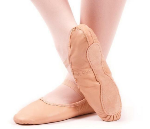 Girl's Full Sole Leather Ballet Shoes - Size UK 2L Euro 34 - 34.5 -last pair left!
