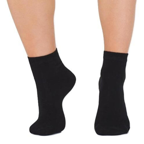 Dance Socks in Black/Tan - Studio 7