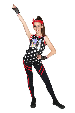 """Hands in the Air"" Weissman Hip Hop Costume - 1 x Girl's 12 yrs & 1 x 14 yrs (Second hand)"