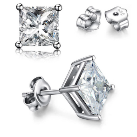 Princess Cut Cubic Zirconia Earrings
