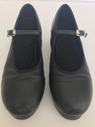 DOUBLE SOLED BUCKLE PRO SLICK TAP SHOES (Size US4) - Second Hand