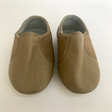 ShowStopper Tan Jazz Shoes (Child's size 11) - Second Hand