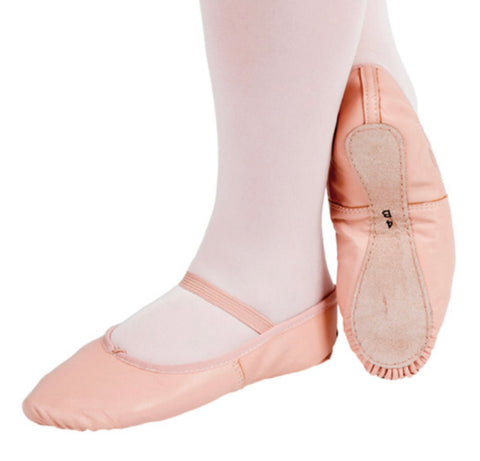 Child's Full Sole Leather Ballet Shoes - Limited sizes left at this price!