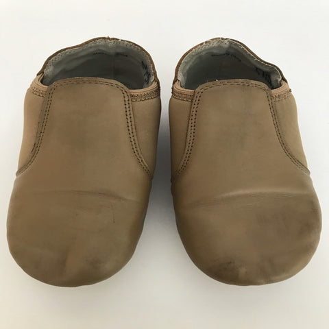 Tan Jazz Shoes (Girl's size 2) - Second Hand