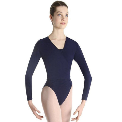 Bloch Xenia Woman's Navy Blue Ballet Wrap Cross Over - Adult Petite (Second Hand)