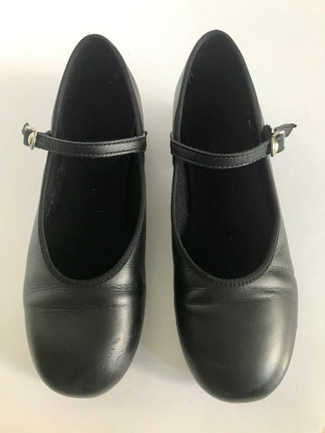 Double Soled Slick Pro Black Tap Shoes - Size US4 (22.7cm) - Second Hand