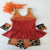 """Fire Starter"" Jazz Costume by Kinetic Creations - Girl's size 6 (Second Hand)"
