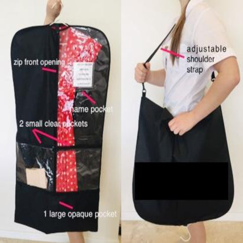 Black & Clear Costume Bag