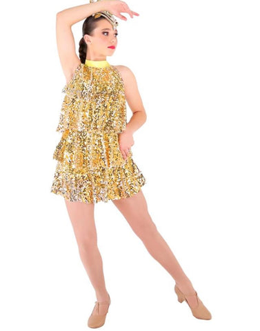 """A Little Party"" Jazz/Tap/Musical Theatre Costume - Girl's size 10-12 (Second Hand)"