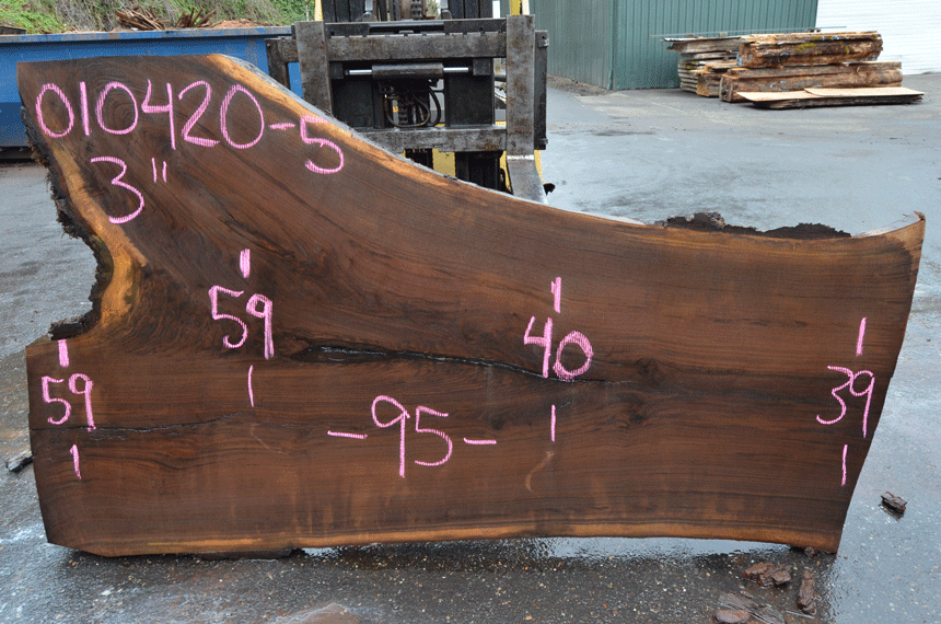 Oregon Black Walnut Slab 010420-05