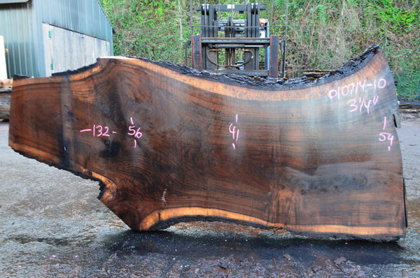 Oregon Black Walnut Slab 010715-10