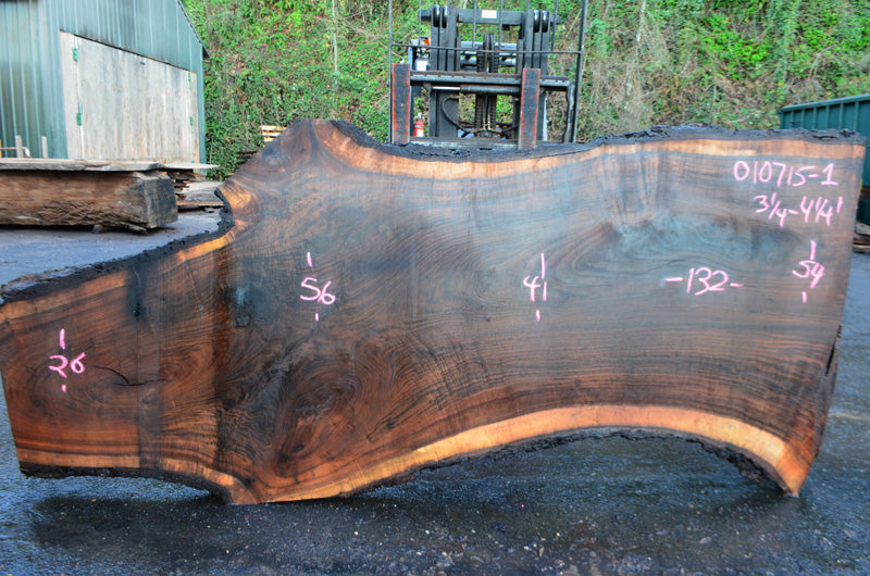 Oregon Black Walnut Slab 010715-01
