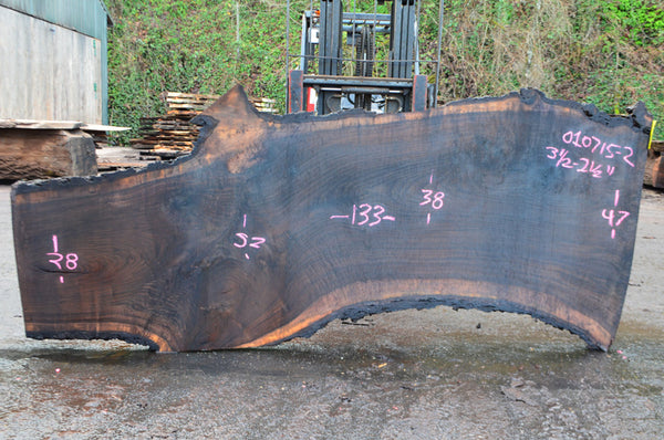 Oregon Black Walnut Slab 010715-02